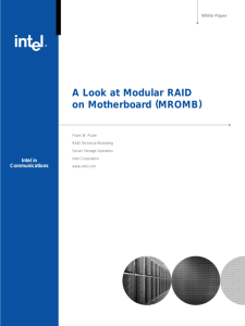 A Look at Modular RAID on Motherboard (MROMB)