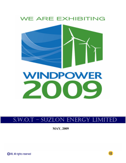 swot of suzlon About suzlon energy swot analysis: an overview swot analysis of suzlon chapter: 1 about suzlon energy introduction suzlon's wind energy business traces its.