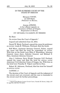 Couey v. Atkins - Oregon Supreme Court Opinions