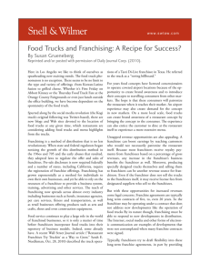 Food Trucks and Franchising: A Recipe for Success?