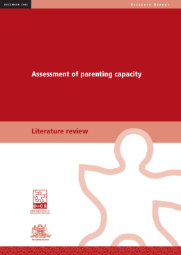 Assessing parenting capacity, Literature review