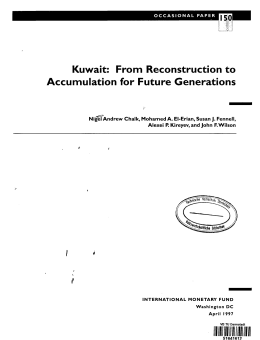Kuwait: From Reconstruction to Accumulation for Future Generations