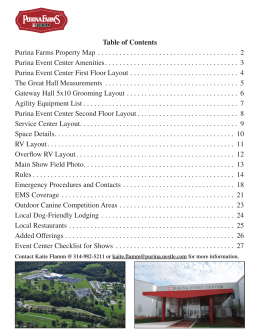 Table of Contents Purina Farms Property Map