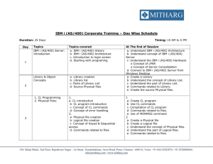 IBM i (AS/400) Corporate Training – Day Wise Schedule