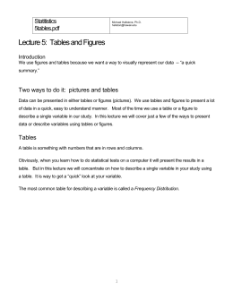 Lecture 5: Tables and Figures (5tables)