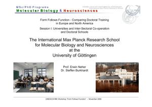 The Max Planck Institutes in Göttingen