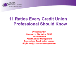 11 Ratios Every Credit Union Professional Should