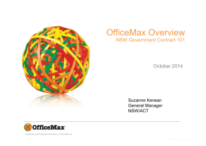supplier presentation - OfficeMax - ProcurePoint
