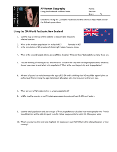 AP Human Geography Using the CIA World Factbook: New Zealand