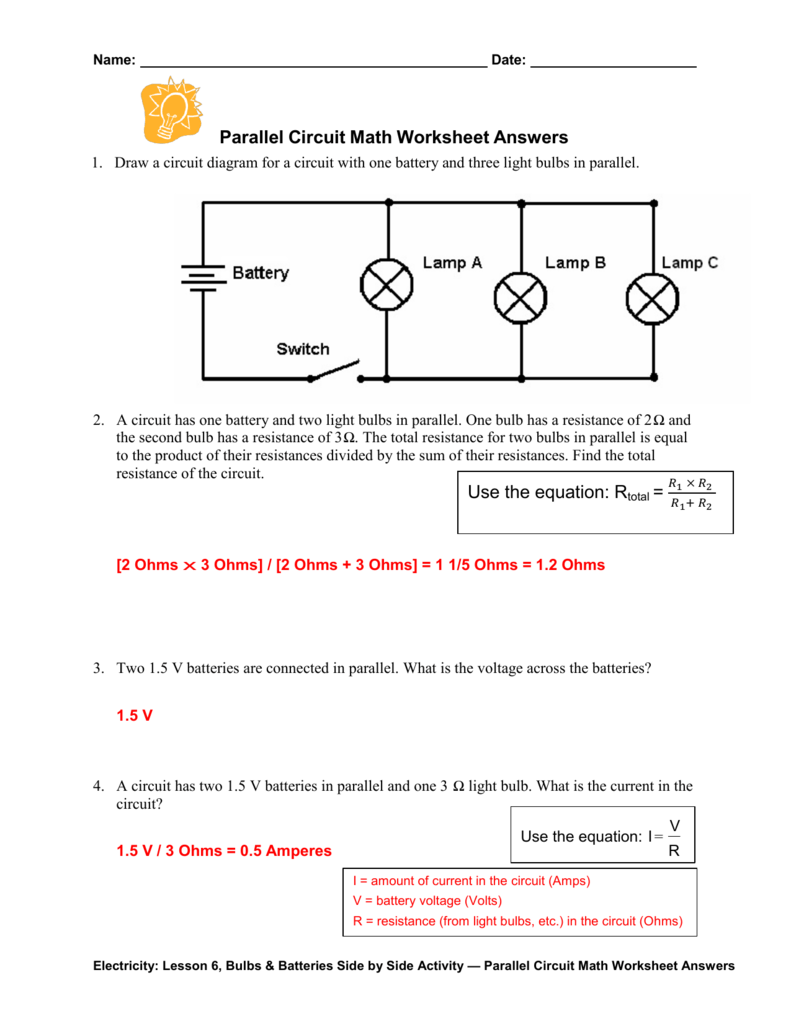 Worksheet parallel circuit worksheet grass fedjp worksheet study series parallel circuit diagram task task pooptronica Choice Image