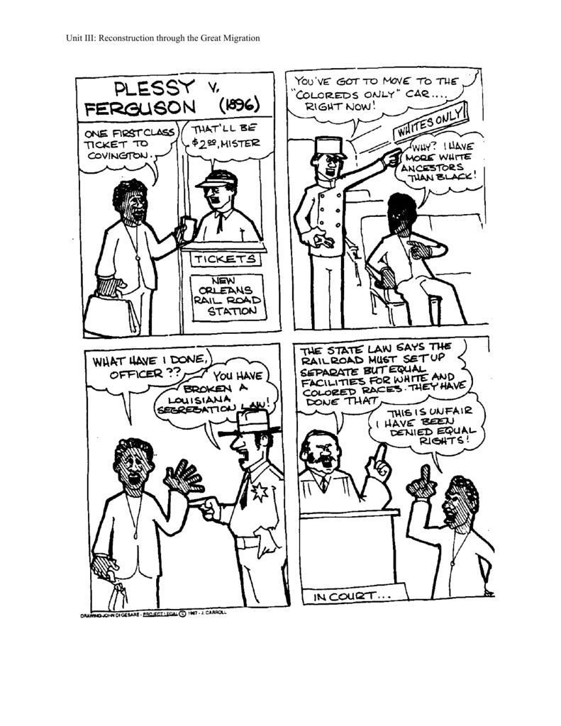 worksheet Plessy V Ferguson Worksheet plessy v ferguson worksheet boone community school district