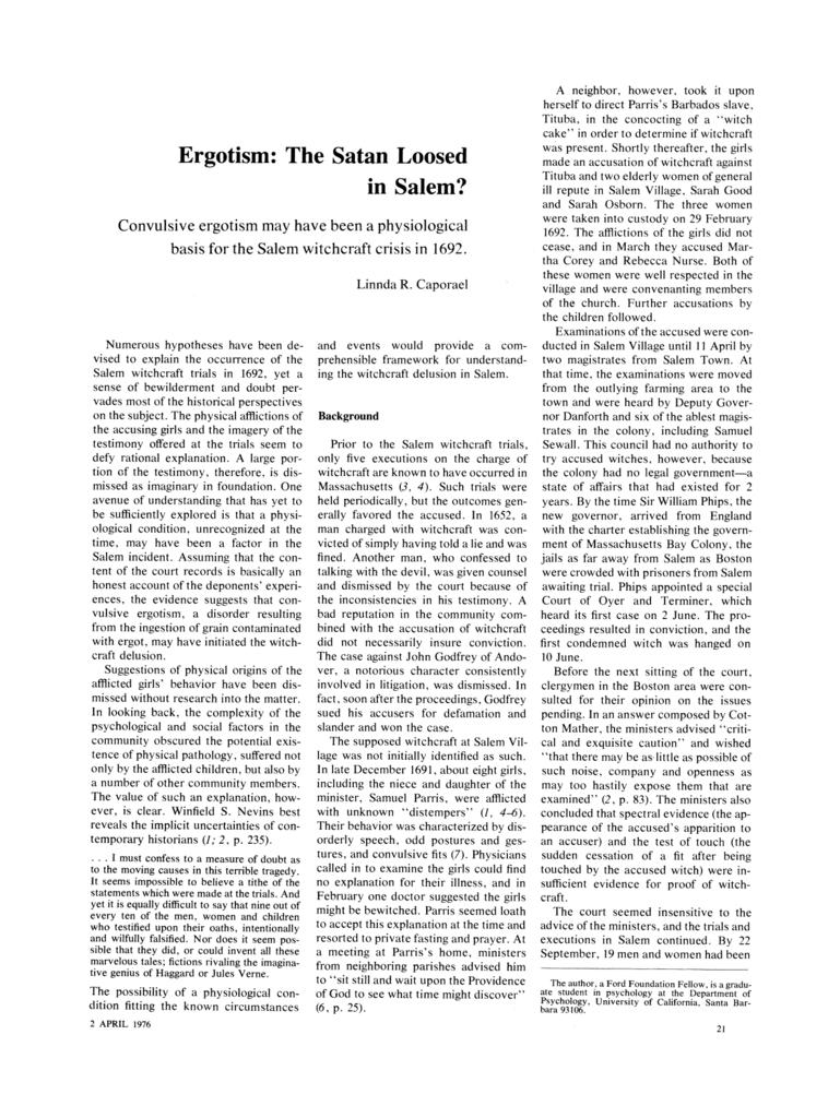 Web PDFERGOTISM THE SATAN LOOSED IN SALEM PDF