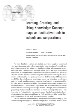 Learning, Creating, and Using Knowledge: Concept maps as