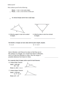 5-6 Practice C Inequalities in Two Triangles