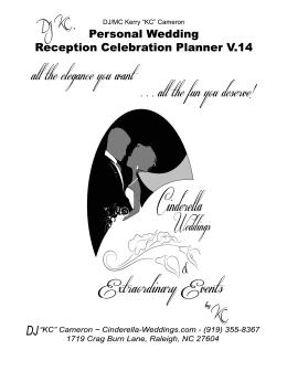 Wedding Reception Guide Why I Am Diffe Cinderella Weddings