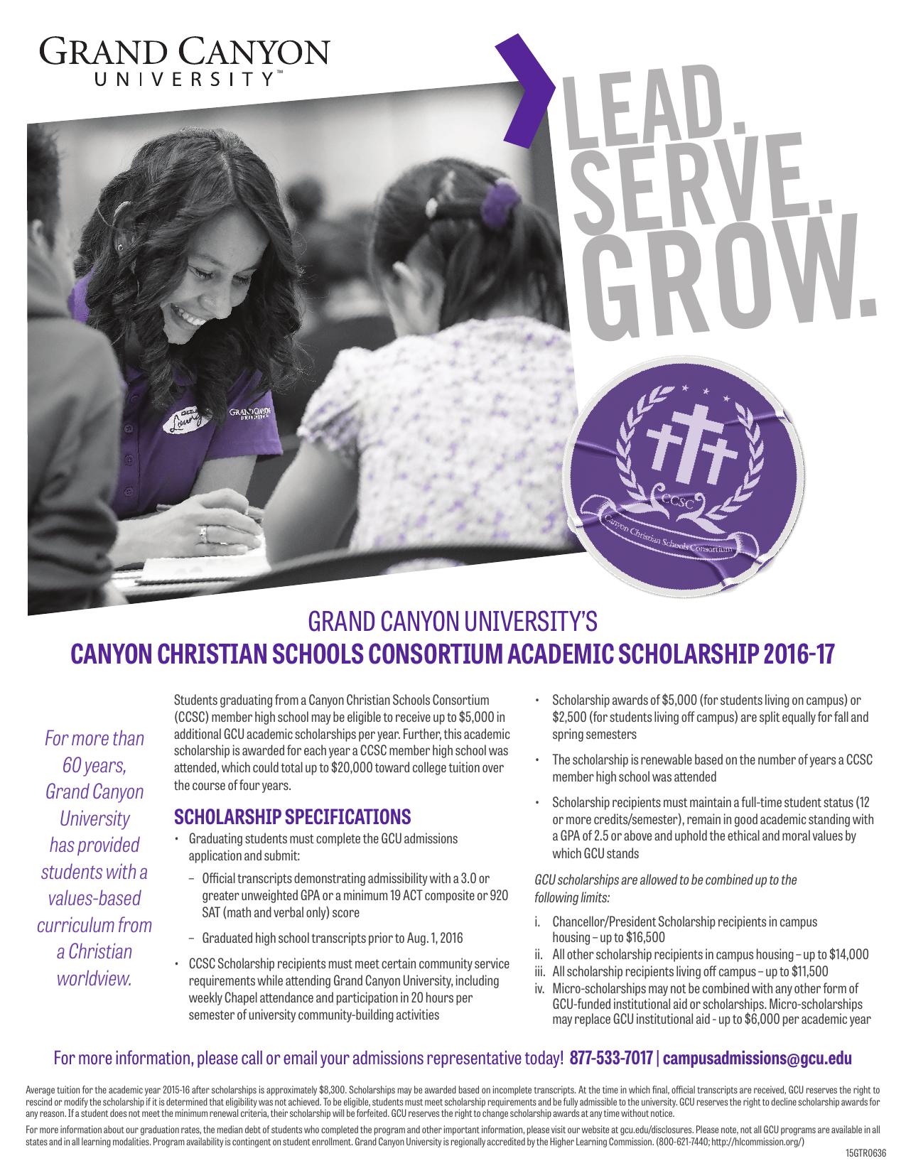 Grand Canyon University S Canyon Christian Schools Consortium