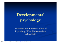 3 Developmental Psychology