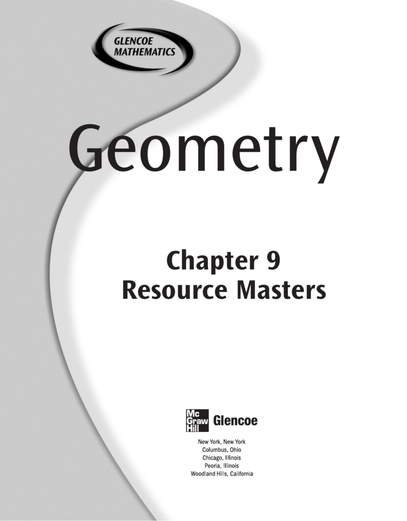 Chapter 9 Resource Masters