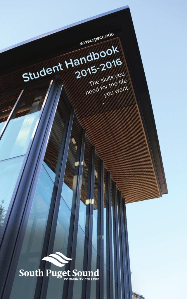 Spscc Student Handbook South Puget Sound Community College