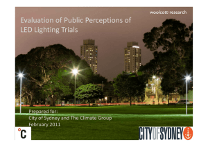 Evaluation of Public Perceptions of p LED Lighting Trials
