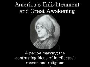 America's Enlightenment and Great Awakening