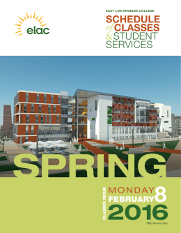 ELAC Spring 2016 Schedule of Classes