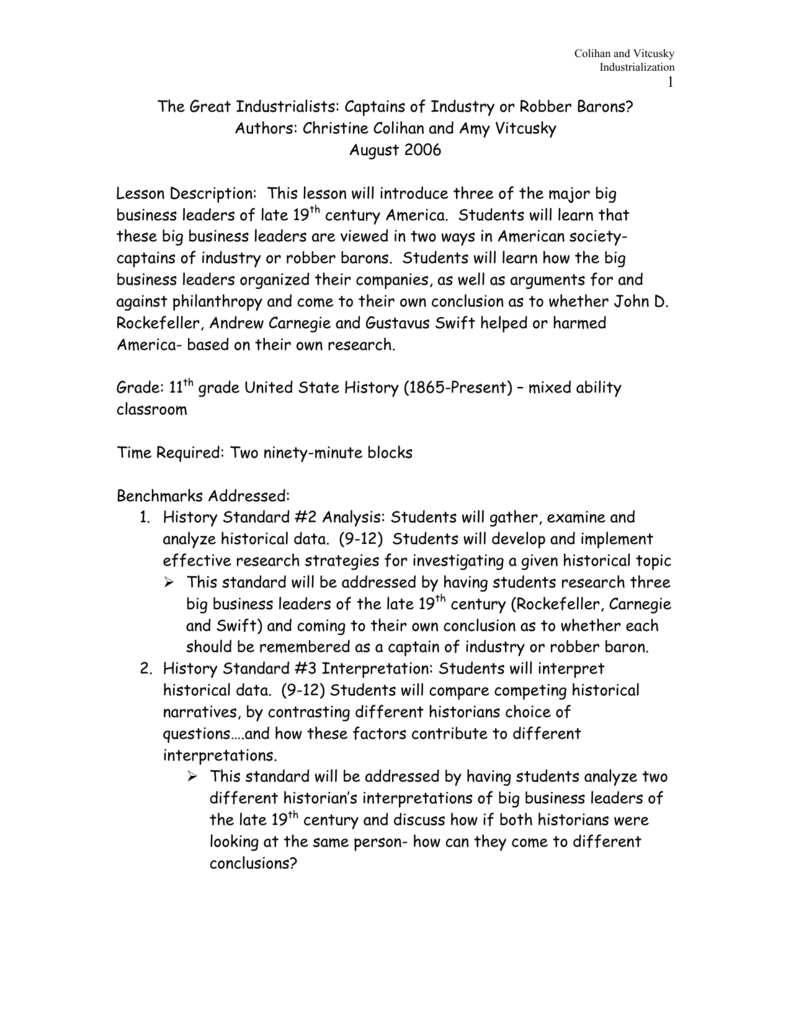 comparing and contrasting the robber barons of today and yesterday Crime trefethen and bau homework pepperdine essay, comparing and contrasting the robber barons of today and today and yesterday and julius caesar act 1 essay topics, beggars can t be choosers essay pdf help with nursing dissertation.