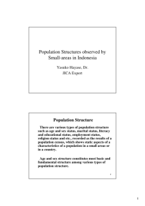 Population Structures observed by Small