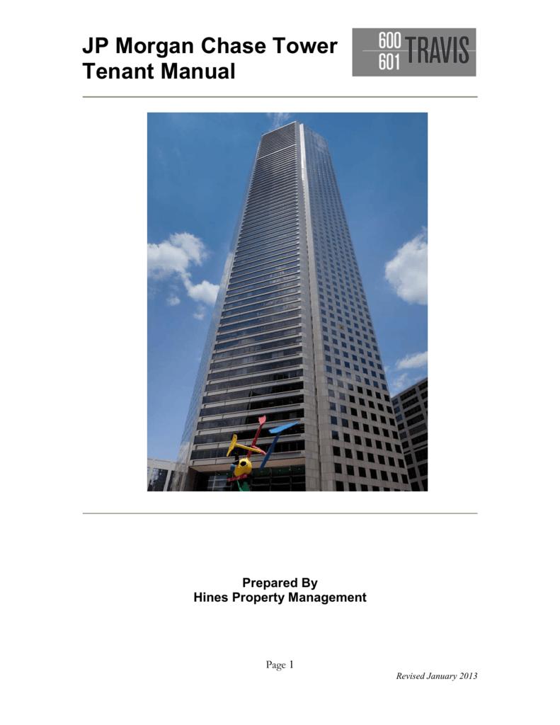 JP Morgan Chase Tower Tenant Manual