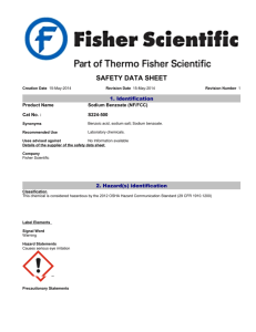 safety data sheet - West Liberty University