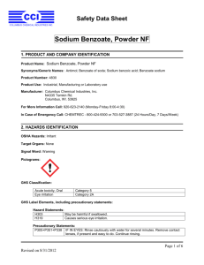 Sodium Benzoate, Powder NF