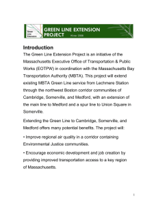 Introduction - Green Line Extension Project