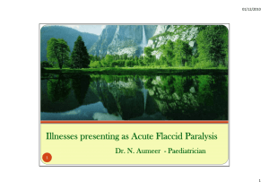 Illnesses presenting as Acute Flaccid Paralysis