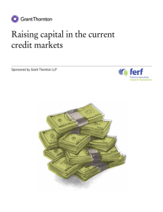 Raising capital in the current credit markets