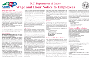 Wage and Hour Notice to Employees