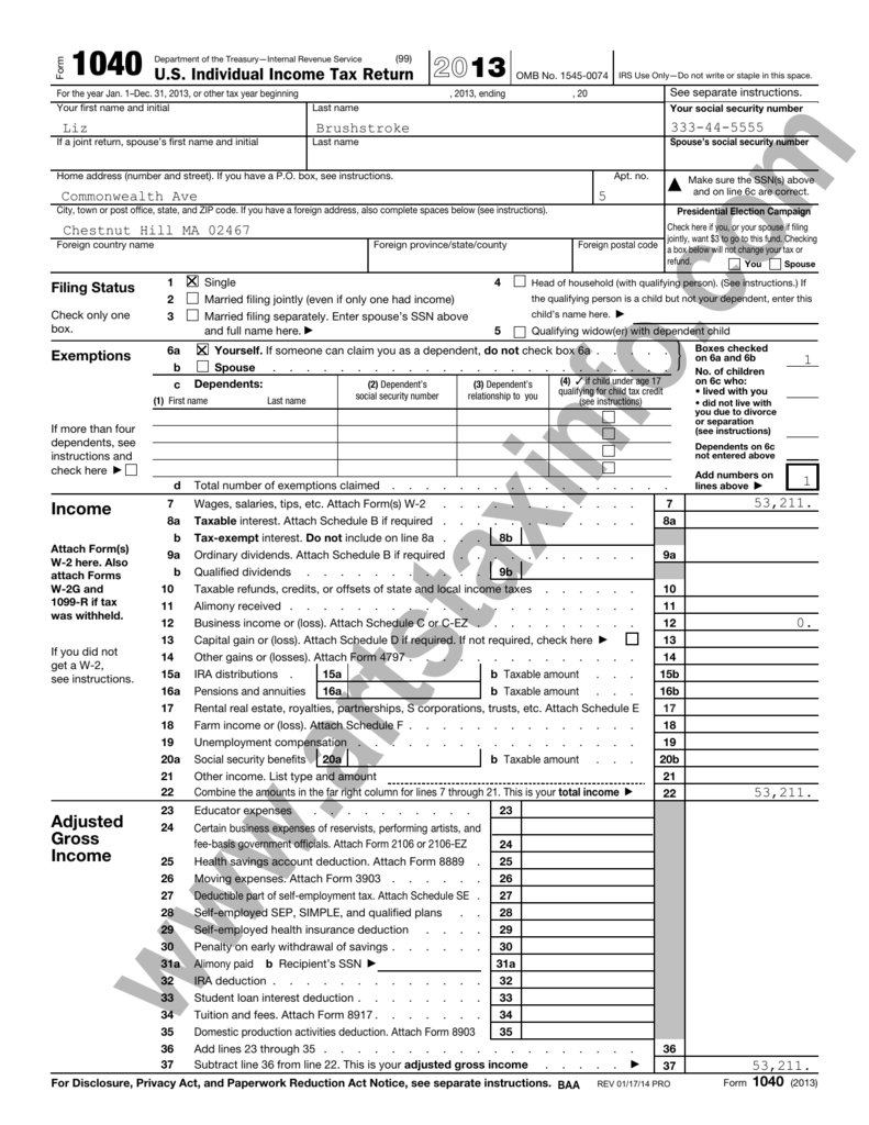 Artist\'s Sample Tax Return - Riley & Associates, PC Art Taxes