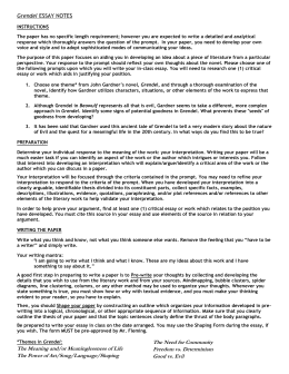 English Essay My Best Friend Grendel Essay Notes  Example Of An Interview Essay also Economy Of Pakistan Essay Beowulf And Grendel Essay How To Organize A Compare And Contrast Essay