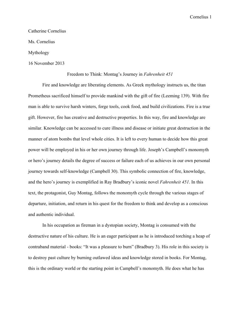 fahrenheit  response essay  mistyhamel