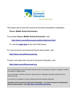 This lesson plan is from the National Council on Economic