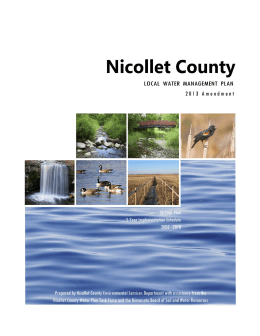 NICOLLET COUNTY LOCAL WATER MANAGEMENT PLAN