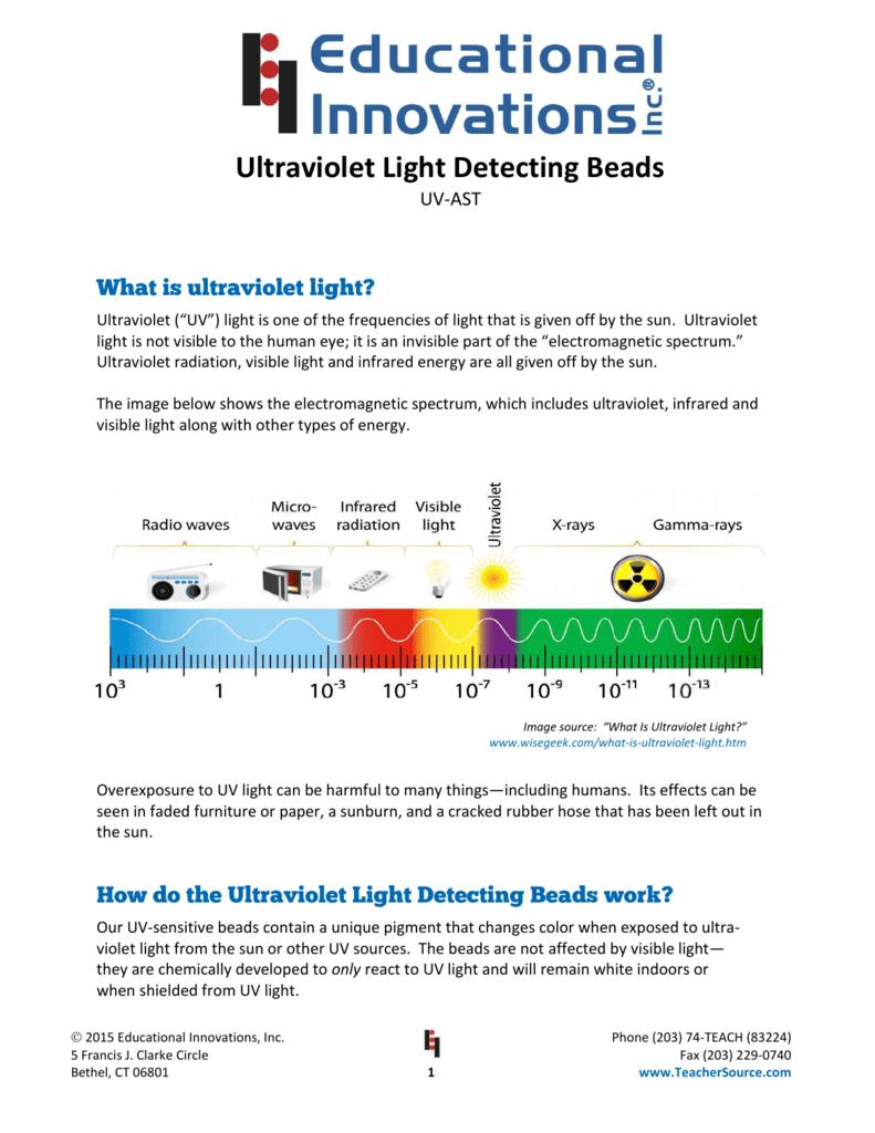 Ultraviolet Light Detecting Beads