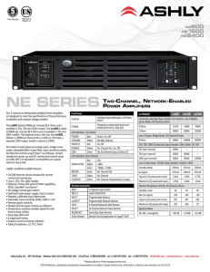 NE SERIES TWO-CHANNEL, NETWORK-ENABLED