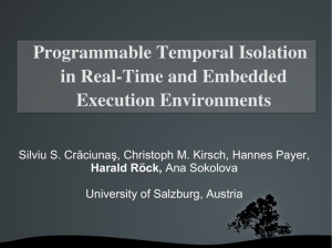 Programmable Temporal Isolation in RealTime and Embedded