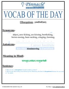 VOCABULARY - Othello : Act I