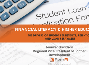 financial literacy & higher education