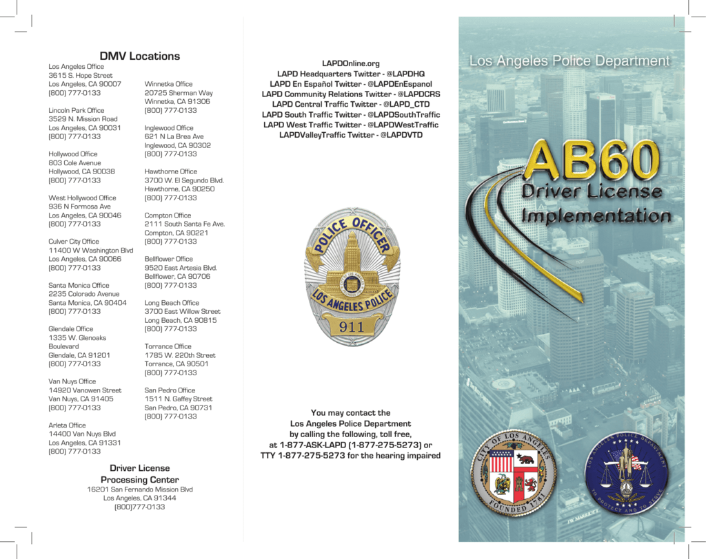 AB60 - Los Angeles Police Department