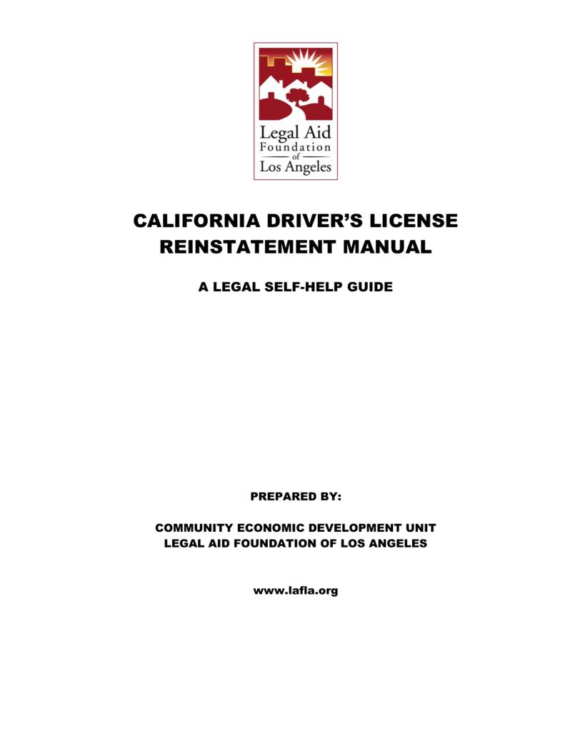 reinstate drivers license ca fee