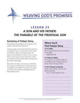 lesson 29 a son and his father: the parable of the prodigal son