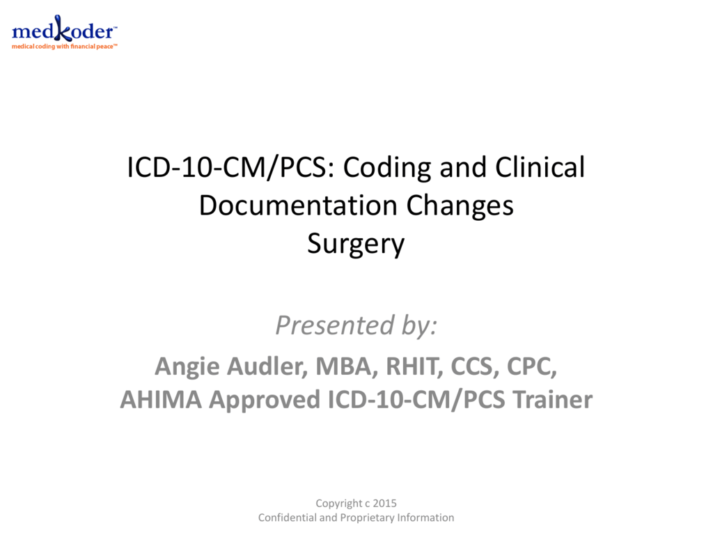 Icd 10 Cm Pcs Coding And Clinical Documentation Changes