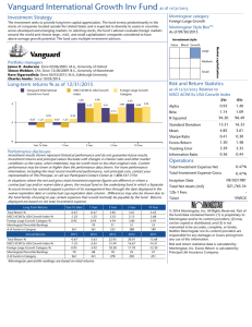 Vanguard International Growth Inv Fund as of 12/31/2015
